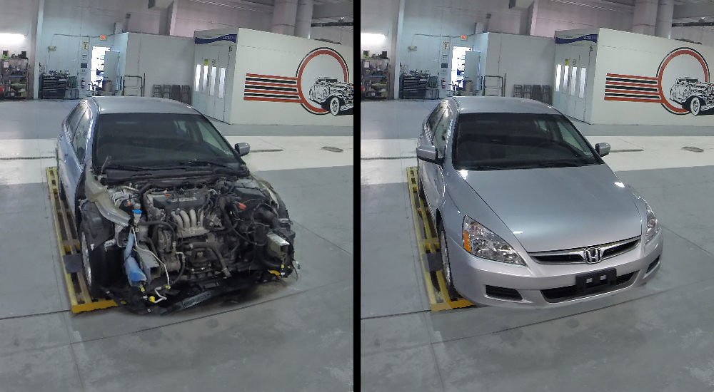 InterTech Collision Centers - before and after